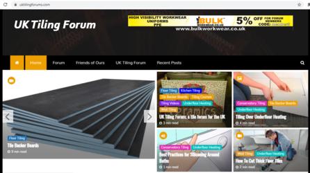 UK Tiling Forum News Site
