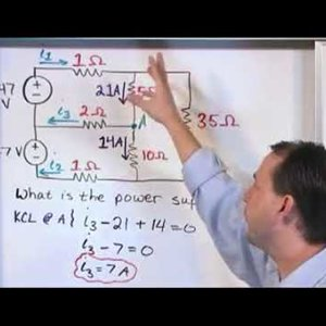 Part 5 - Solving Circuits with Kirchhoffs Laws - Electrical Theory Video Lessons