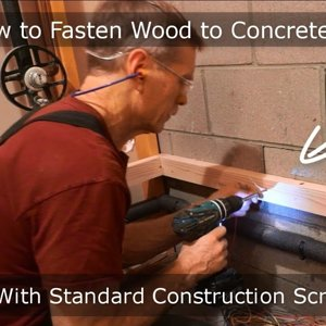 Who needs rawl plugs? - Master Carpenter Hack: How to Fasten Wood to Concrete with Standard Construction Screws