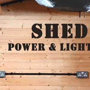 What do you reckon? - SHED REWIRE - Power and Lighting
