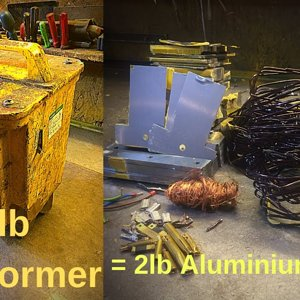 36lbs 240v/110vTransformer stripped gives 2lb Ally wire