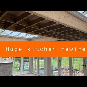 Biggest Kitchen first fix for me, plus data cabling, Exotic life of an electrician