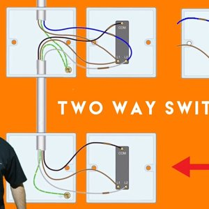 Two Way and Two Way and Intermediate Switches for a Domestic Lighting Circuit Connections Explained